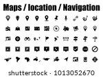navigation pins   map icons ... | Shutterstock .eps vector #1013052670