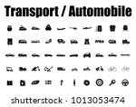 transport and automobile icons | Shutterstock .eps vector #1013053474