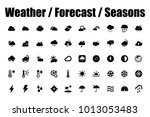 weather forecast and seasons... | Shutterstock .eps vector #1013053483