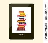 e book reader. e reader device... | Shutterstock .eps vector #1013054794