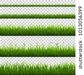 grass border isolated  vector... | Shutterstock .eps vector #1013056399