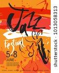 vector jazz festival poster... | Shutterstock .eps vector #1013058313