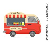 french fries street food... | Shutterstock . vector #1013060260