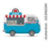 japanese sushi street food... | Shutterstock . vector #1013060284