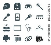 single icons. set of 16... | Shutterstock .eps vector #1013060758