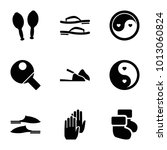 pair icons. set of 9 editable... | Shutterstock .eps vector #1013060824