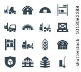 warehouse icons. set of 16... | Shutterstock .eps vector #1013062288