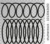 metal spiral flexible wire... | Shutterstock .eps vector #1013063650