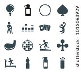 club icons. set of 16 editable... | Shutterstock .eps vector #1013063929