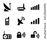 wireless icons. set of 9... | Shutterstock .eps vector #1013064490
