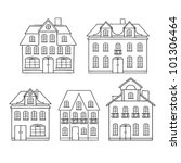 old hand drawing houses... | Shutterstock .eps vector #101306464