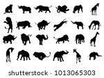 a safari animal silhouette set... | Shutterstock . vector #1013065303