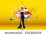 illustration of standing... | Shutterstock .eps vector #101306554