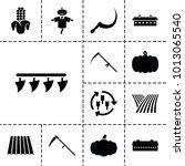 harvest icons. set of 13... | Shutterstock .eps vector #1013065540