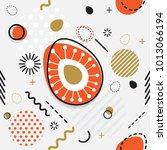 trendy seamless  memphis style... | Shutterstock .eps vector #1013066194