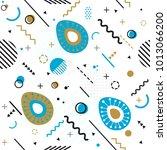 trendy seamless  memphis style... | Shutterstock .eps vector #1013066200