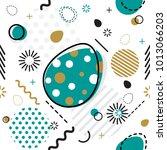 trendy seamless  memphis style... | Shutterstock .eps vector #1013066203