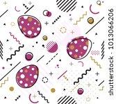 trendy seamless  memphis style... | Shutterstock .eps vector #1013066206