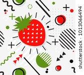 trendy seamless  memphis style... | Shutterstock .eps vector #1013066494
