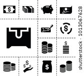 wealth icons. set of 13... | Shutterstock .eps vector #1013067628