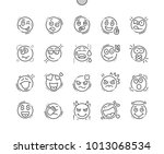 emotions well crafted pixel... | Shutterstock .eps vector #1013068534