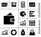 economy icons. set of 13... | Shutterstock .eps vector #1013069248