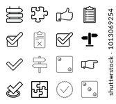 choice icons. set of 16... | Shutterstock .eps vector #1013069254