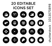 motion icons. set of 20... | Shutterstock .eps vector #1013070898