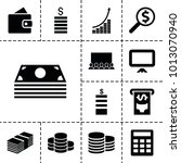 financial icons. set of 13... | Shutterstock .eps vector #1013070940