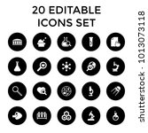 research icons. set of 20... | Shutterstock .eps vector #1013073118
