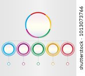 abstract 3d infographic... | Shutterstock .eps vector #1013073766