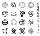 geography icons. set of 16... | Shutterstock .eps vector #1013074453