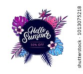 hello summer sale colorful... | Shutterstock .eps vector #1013075218