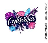 california hand written... | Shutterstock .eps vector #1013076010