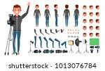 photographer man vector. taking ... | Shutterstock .eps vector #1013076784