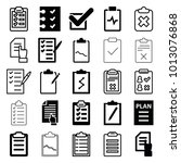 checklist icons. set of 25...   Shutterstock .eps vector #1013076868