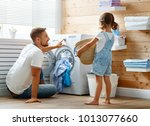 happy family man father ... | Shutterstock . vector #1013077660