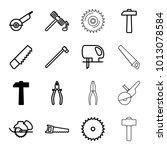 carpentry icons. set of 16... | Shutterstock .eps vector #1013078584