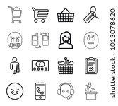 customer icons. set of 16... | Shutterstock .eps vector #1013078620