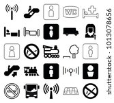 public icons. set of 25... | Shutterstock .eps vector #1013078656