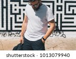 summer day. front view. young... | Shutterstock . vector #1013079940