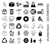 environment icons. set of 36... | Shutterstock .eps vector #1013080450