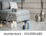 cozy room decorated with... | Shutterstock . vector #1013081680