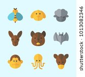 icons about animals with... | Shutterstock .eps vector #1013082346