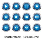 multimedia buttons | Shutterstock .eps vector #101308690
