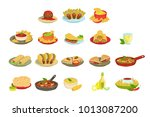 mexican food signature dishes... | Shutterstock .eps vector #1013087200