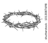 crown of thorns  easter... | Shutterstock .eps vector #1013087698