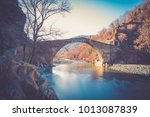 ponte del diavolo  devil's... | Shutterstock . vector #1013087839