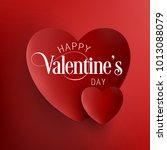 happy valentine's day vector | Shutterstock .eps vector #1013088079