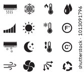 air conditioning icons. black... | Shutterstock .eps vector #1013091796